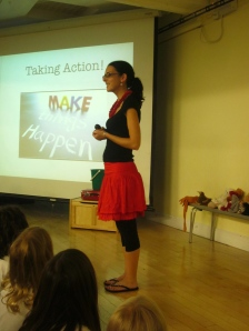 Sharing at our school assembly.