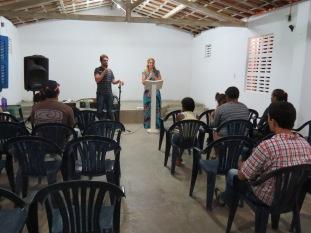 Preaching in church
